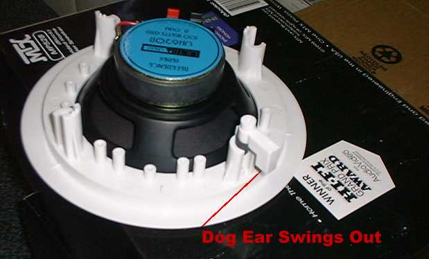 How do the speakers mount in the wall?--Speaker Dog Ear Mount 2
