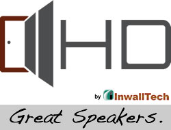 "InwallTech HD-650.1A High Definition 6 1/2"" Angled Ceiling Theater Virtually Invisible Speakers"